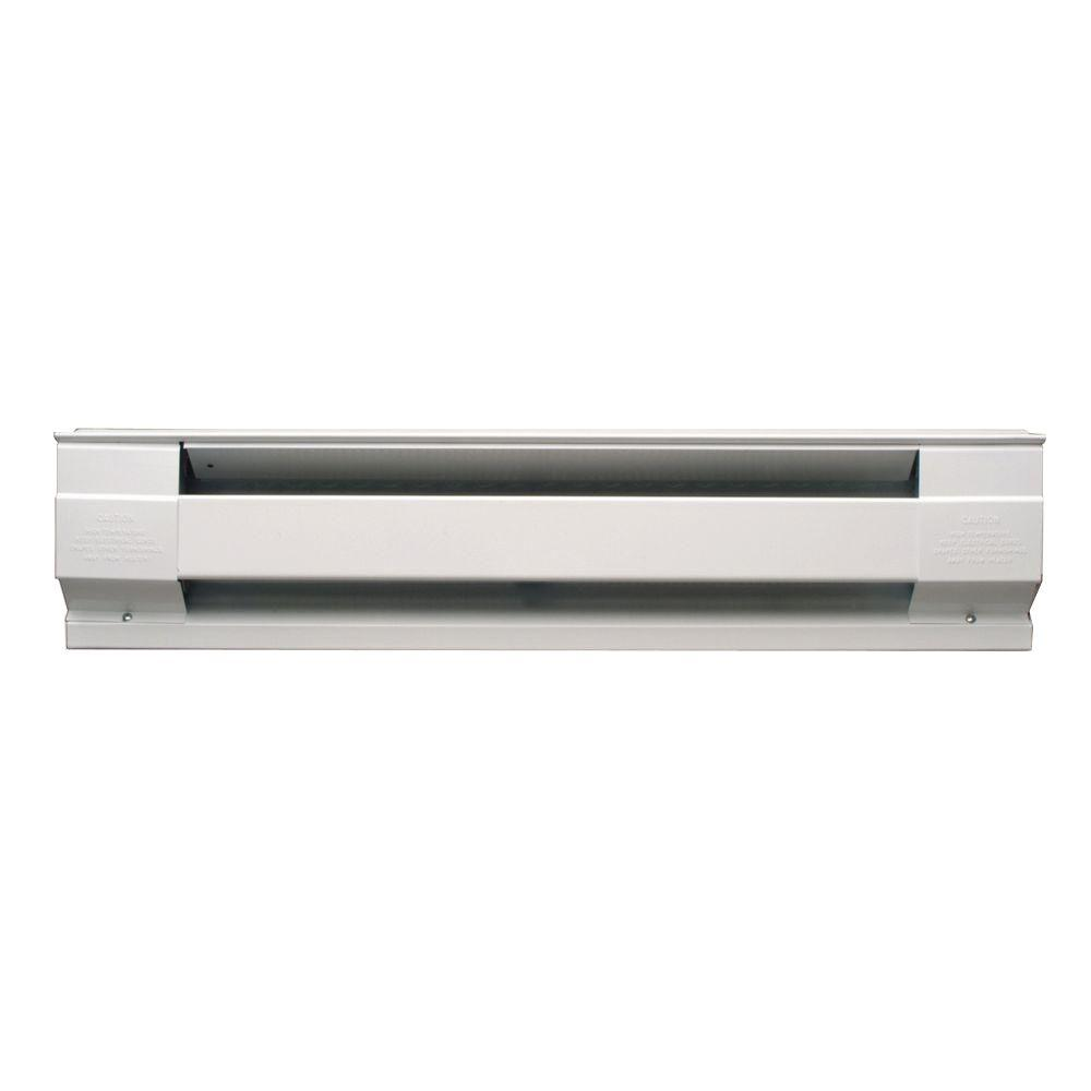 96 in. 2500-Watt 240-Volt Electric Baseboard Heater in White