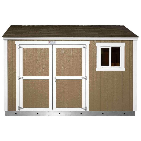Installed The Tahoe Series Tall Ranch 10 ft. x 12 ft. x 8 ft. 10 in. Painted Storage Building Shed and Sidewall Door