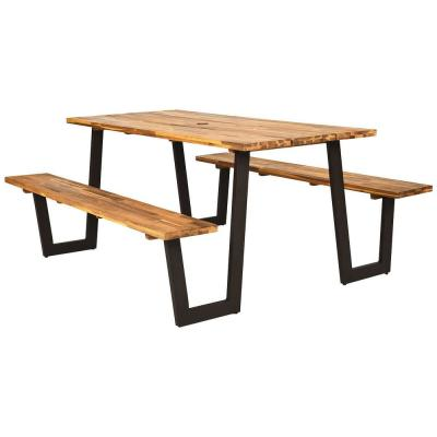 1-Piece Wood Outdoor Dining Picnic Set