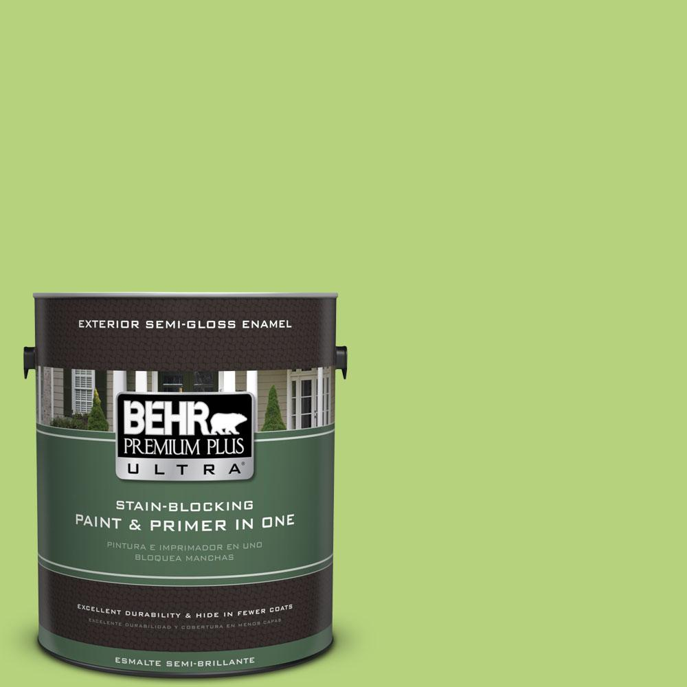 behr premium plus ultra 1 gal 420b 4 tart apple semi gloss enamel exterior paint 585401 the. Black Bedroom Furniture Sets. Home Design Ideas