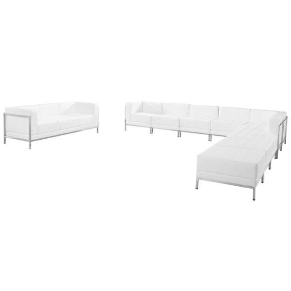 Flash Furniture Hercules Imagination Series White Leather Sectional & Sofa