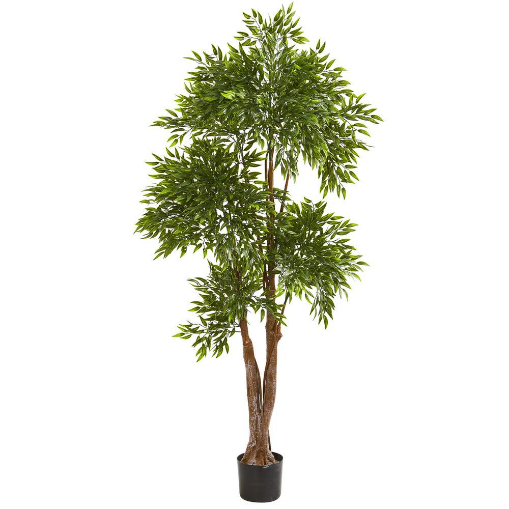 Indoor//Outdoor Bird Nest Tree UV Resistant Nearly Natural 5391 5ft
