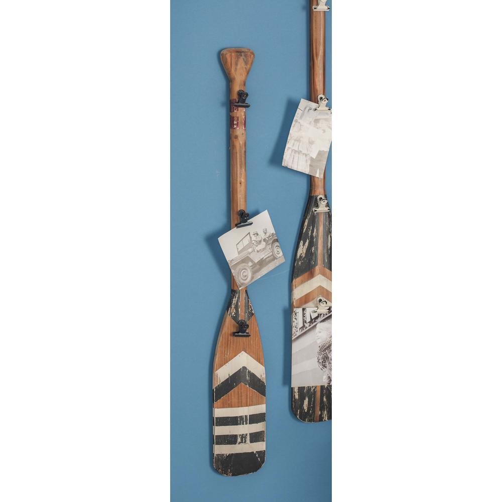 5 inch x 36 inch Coastal Living Wooden Oar Wall Decor by