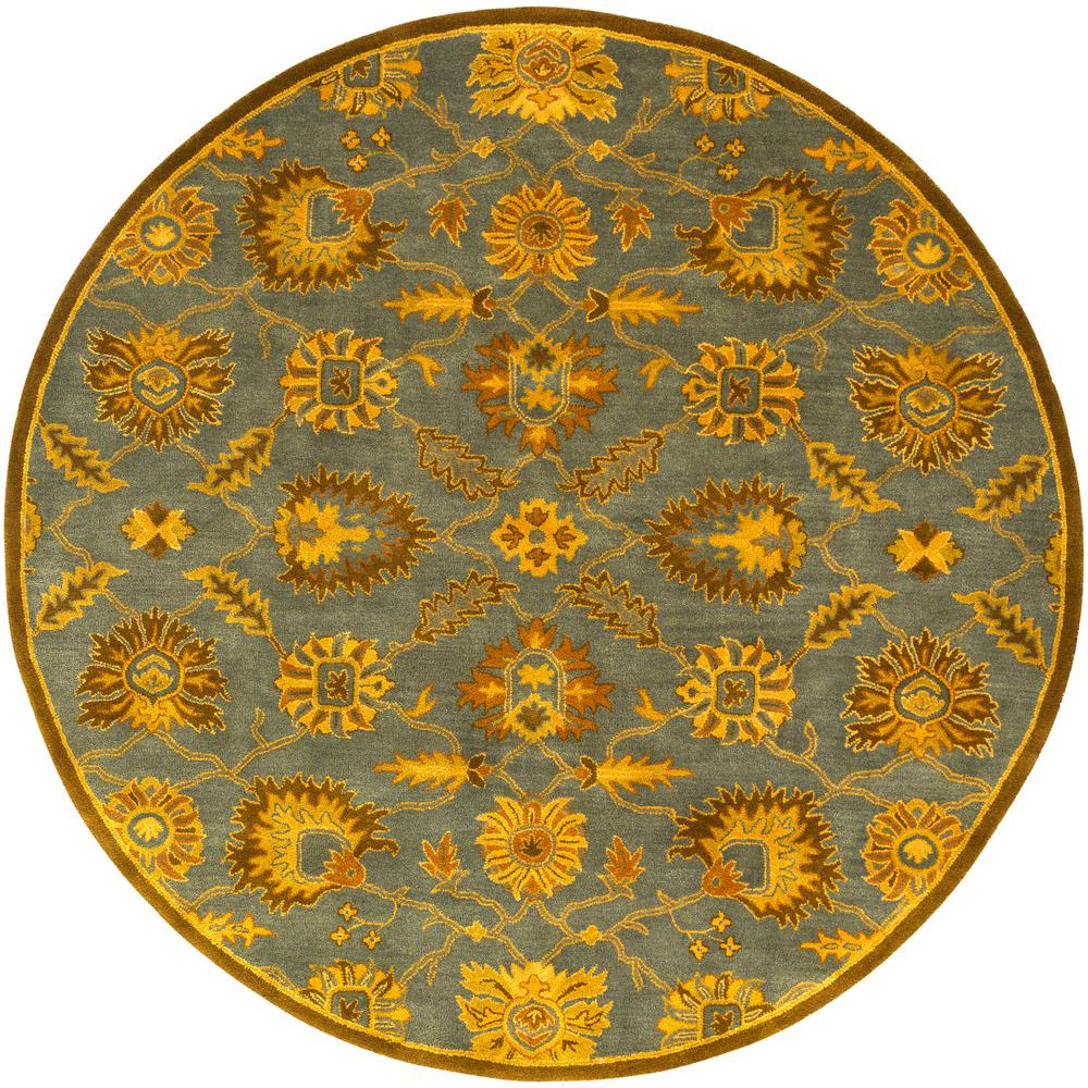Artistic Weavers Leoville Teal 4 Ft. X 4 Ft. Round Area