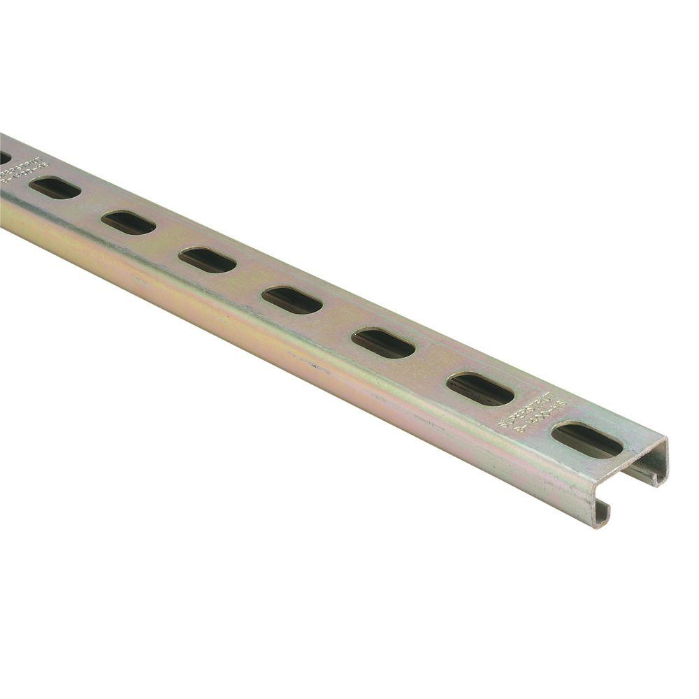 Superstrut 10 ft  14-Gauge Half Slotted Metal Framing Strut Channel - Gold  Galvanized