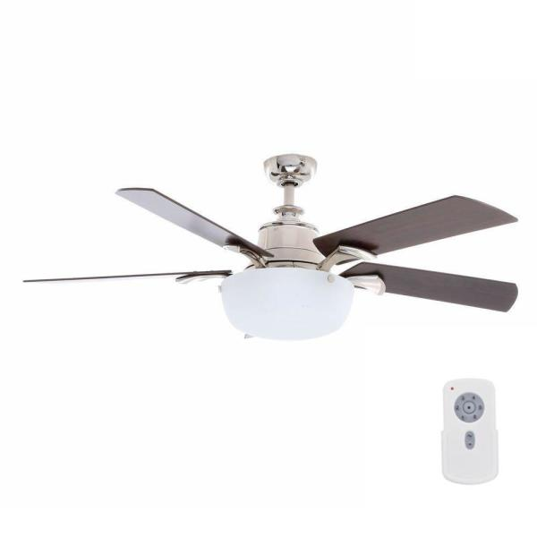 Winfield 54 in. Indoor Liquid Nickel Ceiling Fan with Light Kit and Remote Control