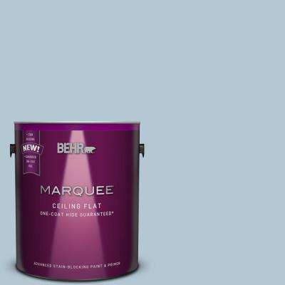 1 gal. #HDC-CT-16A Tinted to English Hollyhock One-Coat Hide Flat Interior Ceiling Paint and Primer in One