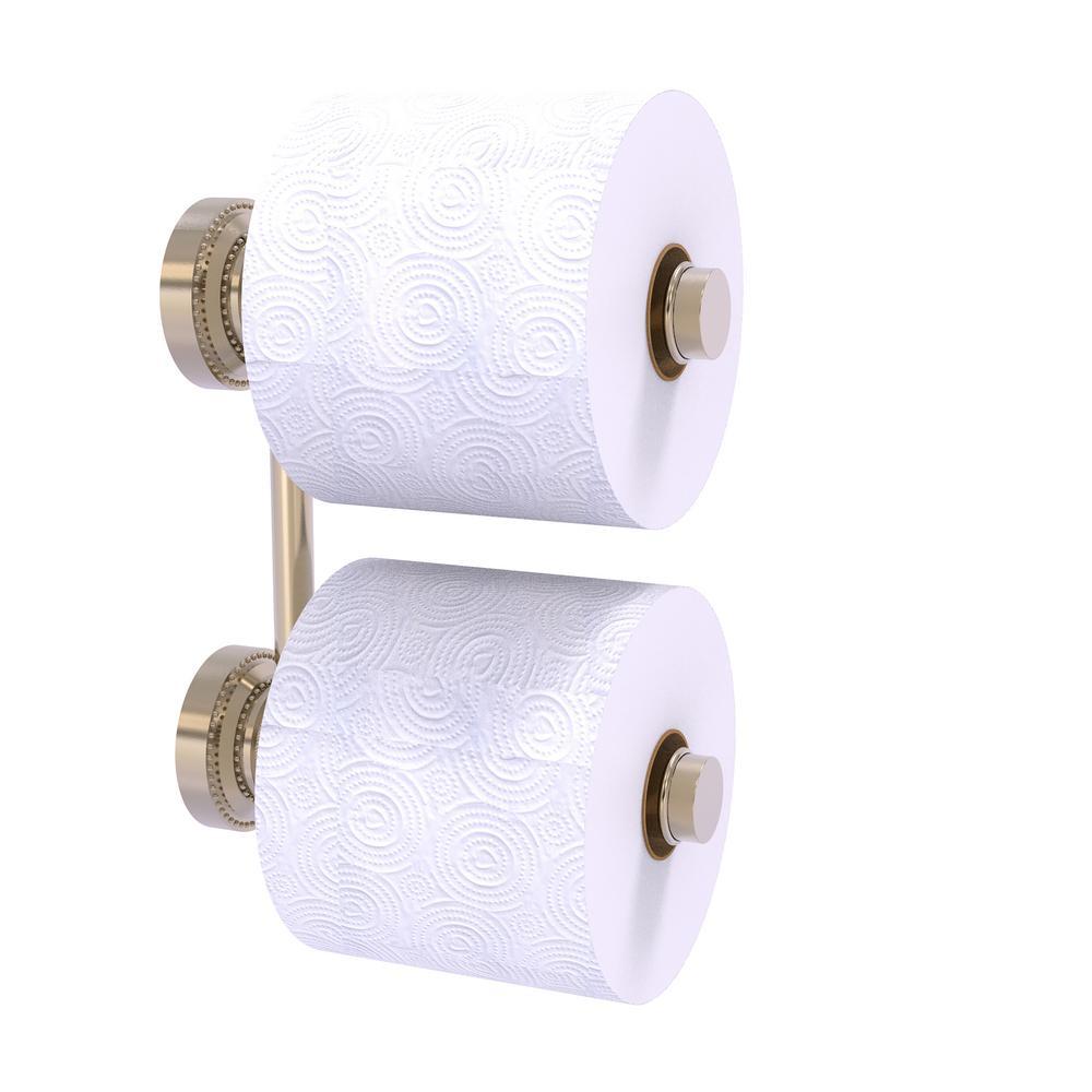 Dottingham 2 Roll Reserve Roll Toilet Paper Holder in Antique Pewter