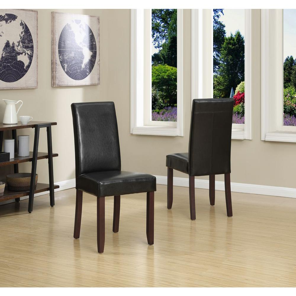 Faux leather parsons dining