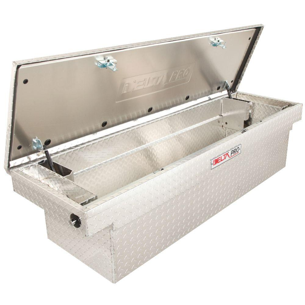 Delta Delta Pro 71 in. Aluminum Single Lid Deep Full Size Crossover Tool Box in Bright