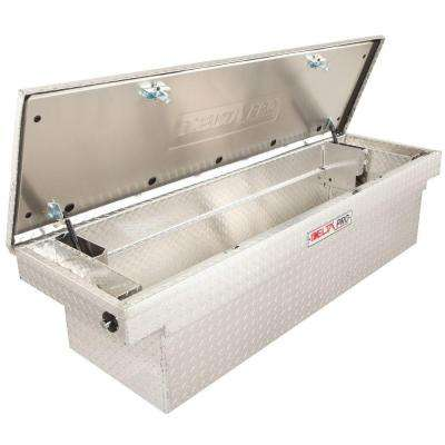 Delta Pro 71 in. Aluminum Single Lid Deep Full Size Crossover Tool Box in Bright