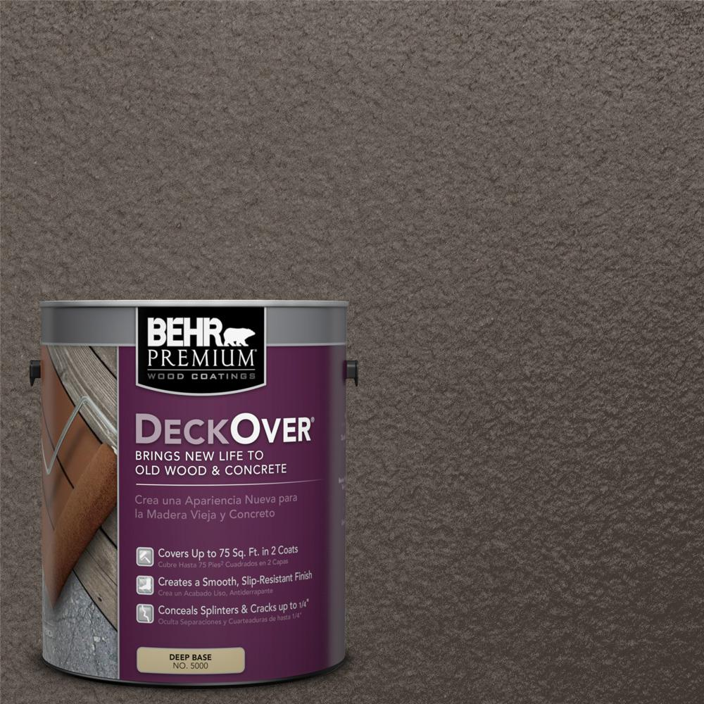 BEHR Premium DeckOver 1 gal. #SC-103 Coffee Solid Color Exterior Wood and Concrete Coating