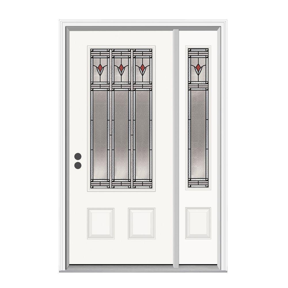 JELD-WEN Arum 3/4 Lite Steel Prehung Front Door with 14 in. Side Lite