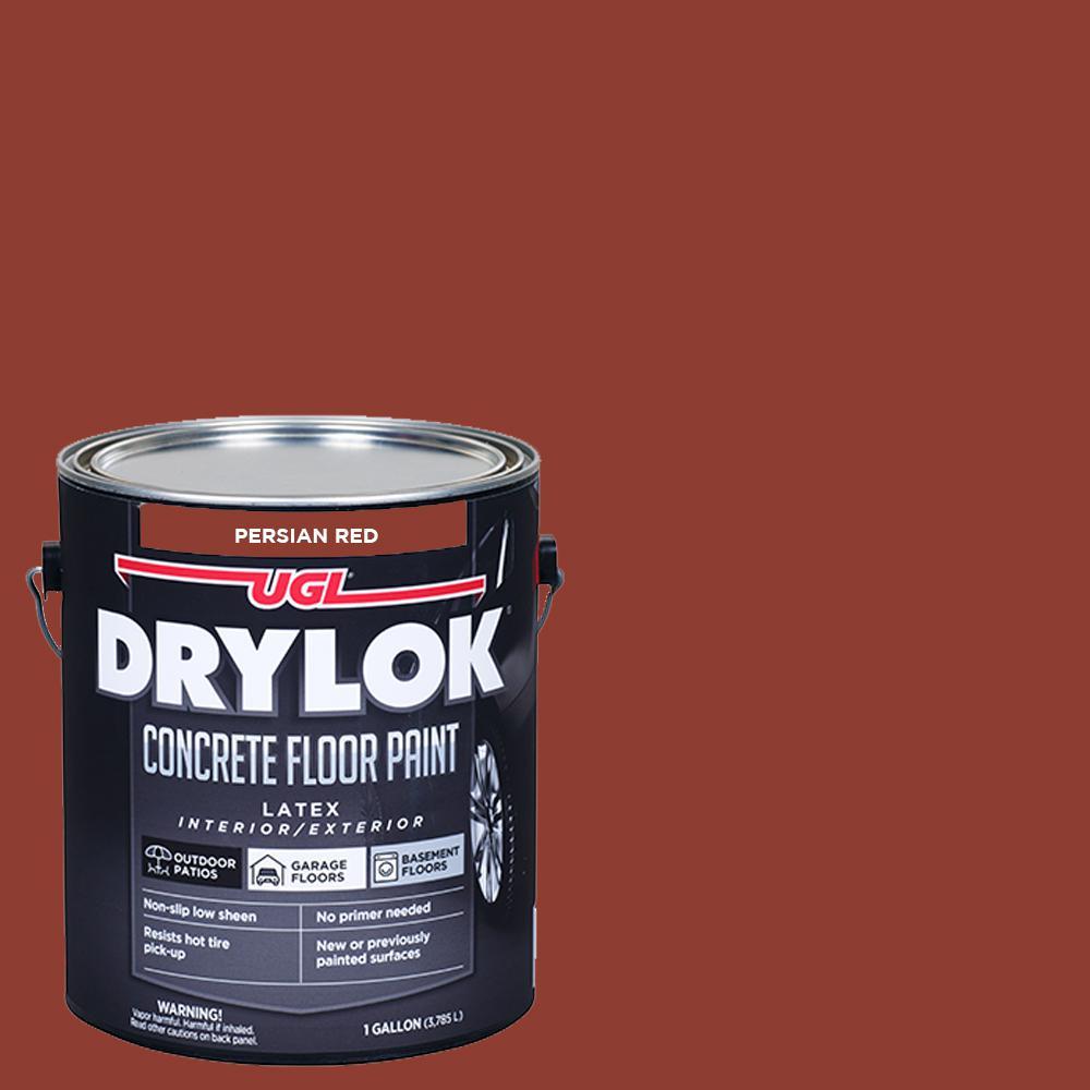 1 gal. Persian Red Low-Sheen Concrete Floor Paint