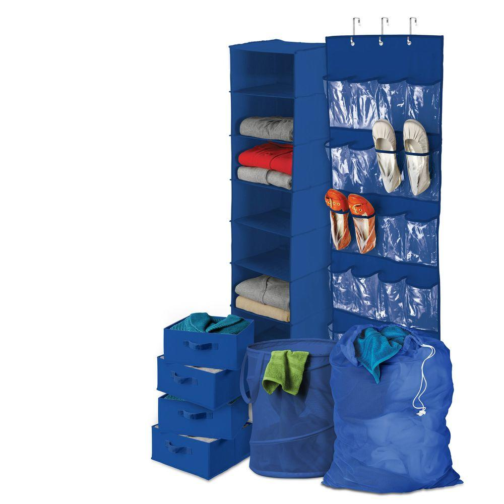 Honey-Can-Do Back To School Blue Home Organization Kit
