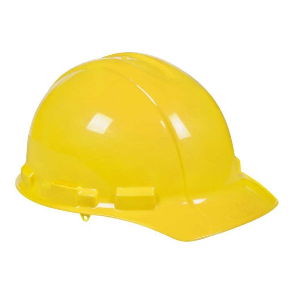 3M Yellow Hard Hat with Ratchet Adjustment (Case of 6), Y...