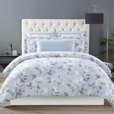 Soft Floral King Duvet with Pillow Shams