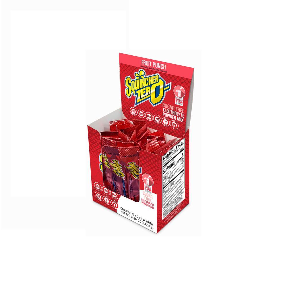 Zero Sugar Qwik Stik Single Serve 0.11 oz. Fruit Punch Electrolyte Drink Mix Powder (120-Stiks per Case)