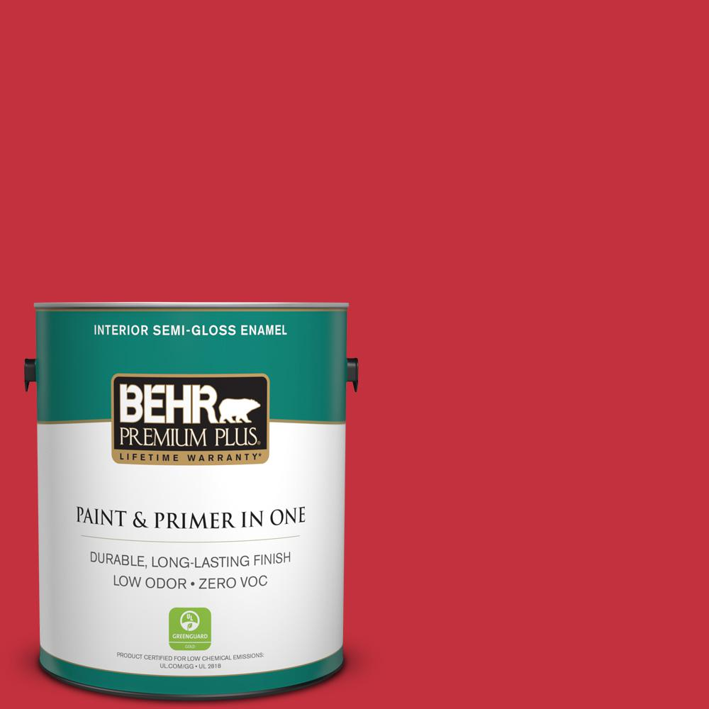 1 gal. #150B-7 Poinsettia Semi-Gloss Enamel Zero VOC Interior Paint and