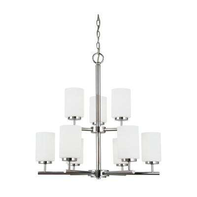 Oslo 9-Light Chrome Chandelier with LED Bulbs