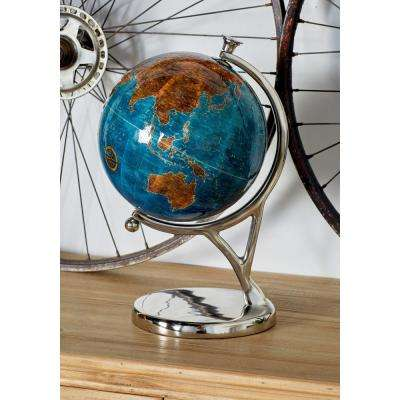 15 in. Decorative Globes with Silver Bases (Set of 3)