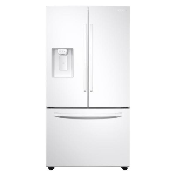 27 cu. ft. French Door Refrigerator in Stainless White