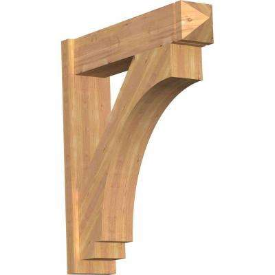 8 in. x 36 in. x 32 in. Western Red Cedar Imperial Arts and Crafts Smooth Outlooker