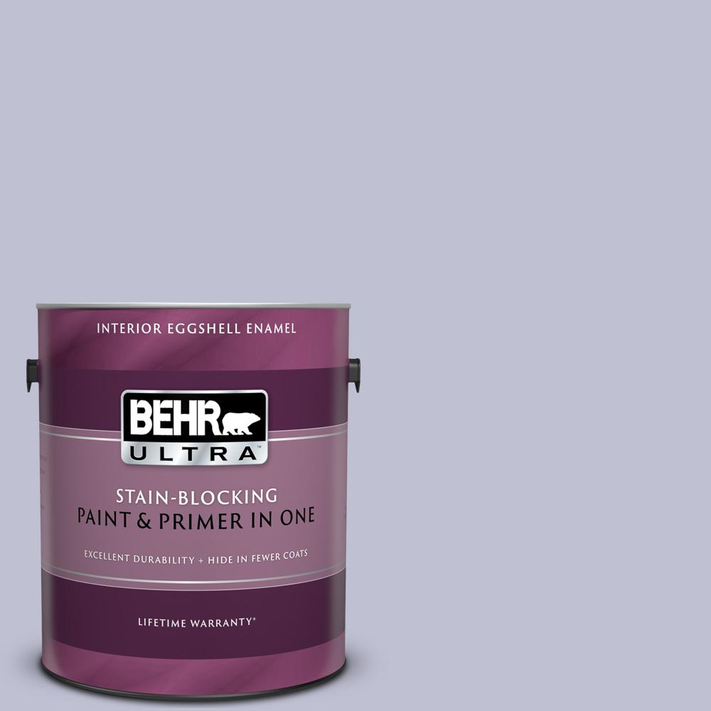 Behr Ultra 1 Gal S560 2 Lavender Honor Eggshell Enamel Interior Paint And Primer In One 275001 The Home Depot