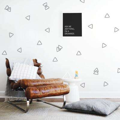 Grey Hollow Triangles Wall Decal