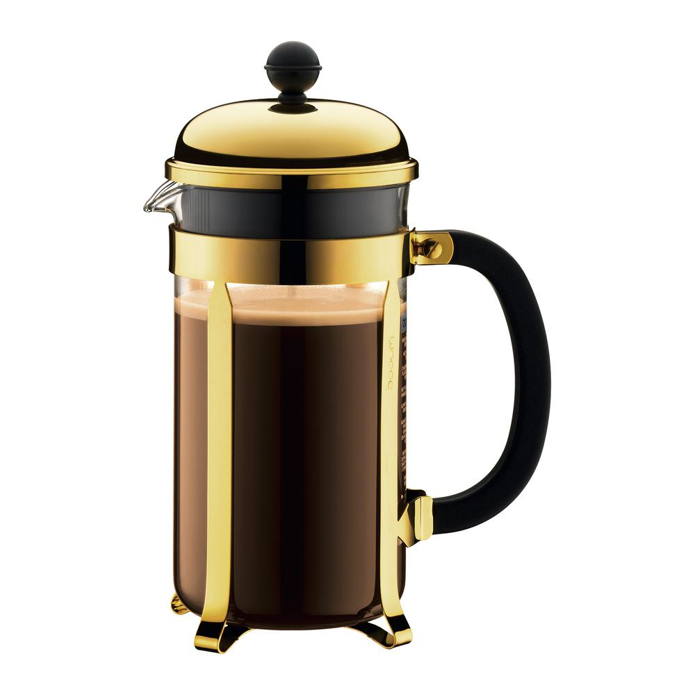 Bodum Chambord 8-Cup Gold French Press Coffee Maker
