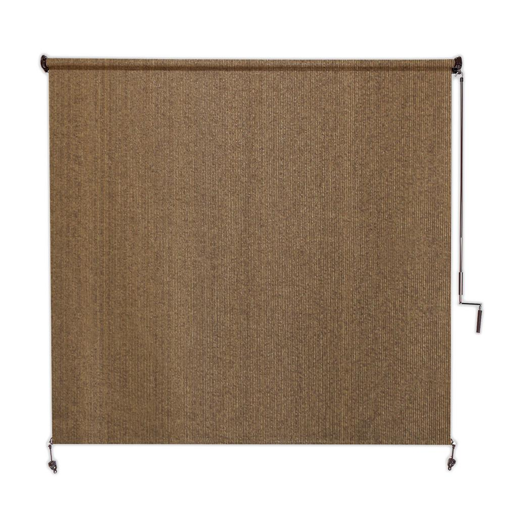 cdaf9fceea445 Coolaroo Walnut Cordless Exterior Roller Shade - 120 in. W x 96 in. L.  Carousel navigation back button