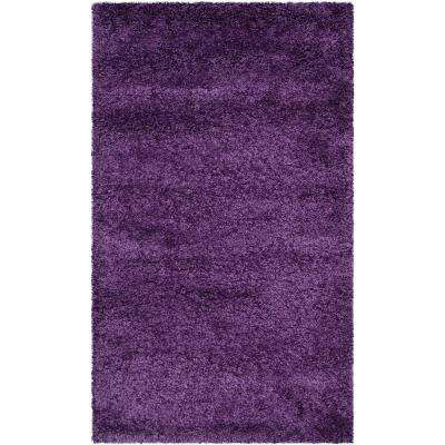 Milan Shag Purple 5 ft. x 8 ft. Area Rug