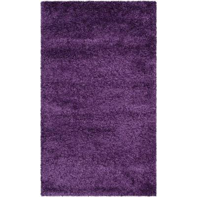 Milan Shag Purple 6 ft. x 9 ft. Area Rug