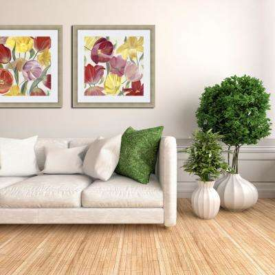 24.75 in. x 24.75 in. 'Sandy's Spring Mix II' by Sandra Iafrate Fine Art Paper Print Framed with Glass Wall Art
