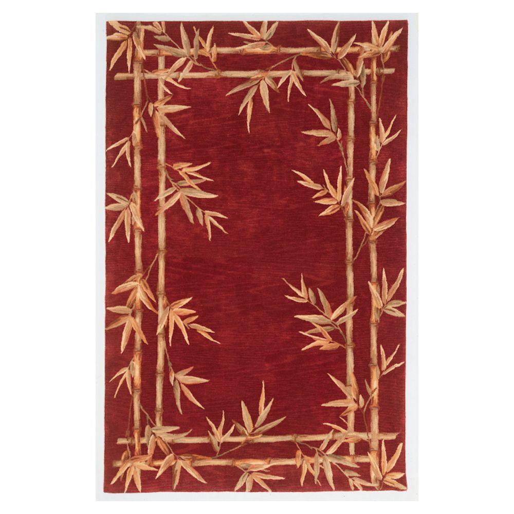 Kas Rugs Bamboo Screen Red 8 ft. 6 in. x 11 ft. 6 in. Area Rug