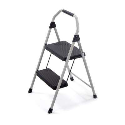 2-Step Compact Steel Step Stool with 225 lb. Load Capacity Type II Duty Rating