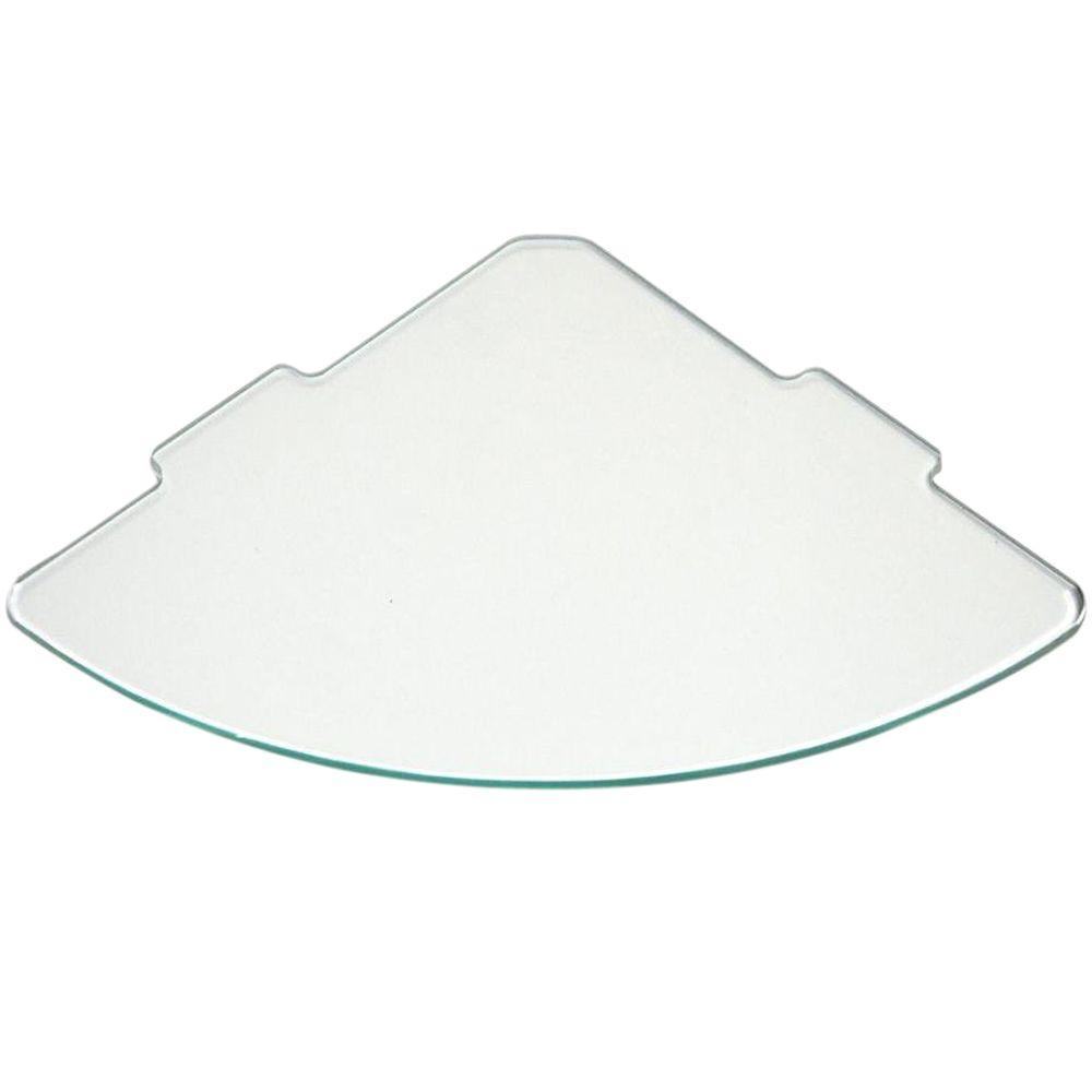 Floating Glass Shelves 1/4 in. Curve Glass Corner Shelf (Price Varies By Size)