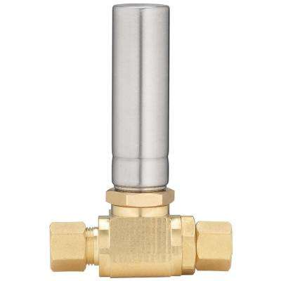 3/8 in. O.D. Comp x 3/8 in. Comp Stainless Steel Straight Water Hammer Arrestor with No Lead