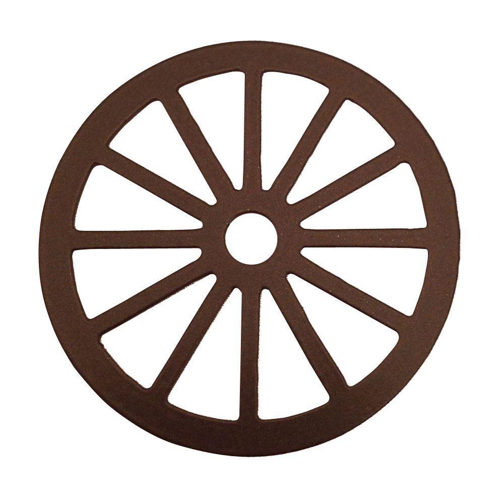 3-1/8 in. Dia Wagon Wheel Decorative Oil Rubbed Bronze Roller Cover