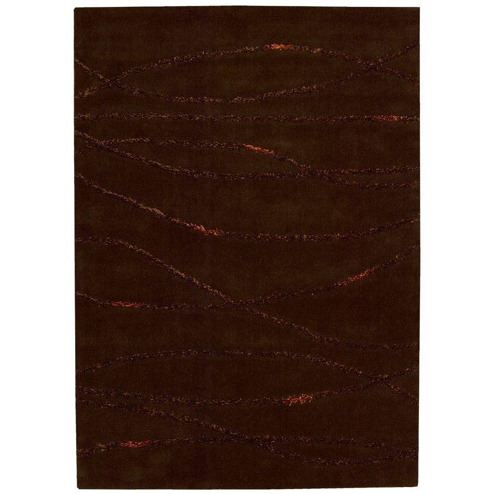 Nourison Overstock Monterey Brown 5 ft. 3 in. x 7 ft. 4 in. Area Rug