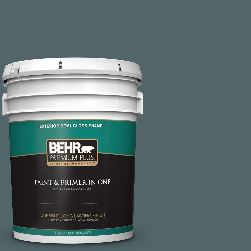 5-gal. #ECC-58-3 Unreal Teal Semi-Gloss Enamel Exterior Paint