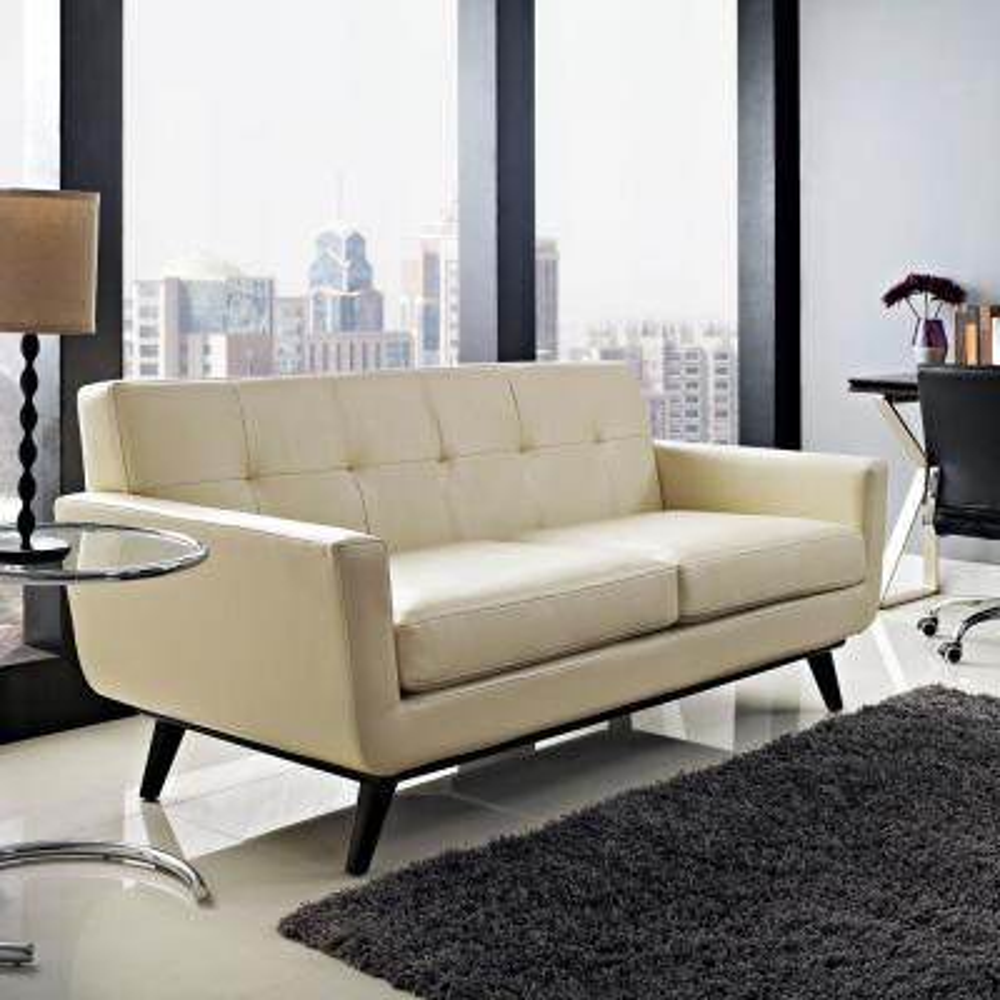 Magnificent Faux Leather Beige Sofas Loveseats Living Room Customarchery Wood Chair Design Ideas Customarcherynet