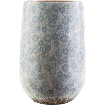 Draven 17.9 in. Ceramic Decorative Vase in Blue