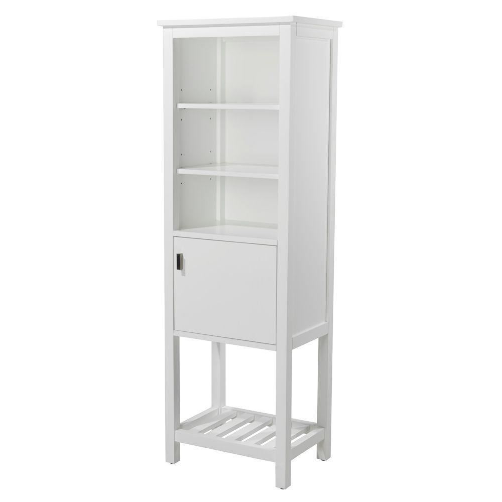 Fraser 20 in. W x 60 in. H x 14 in. D Bathroom Linen Storage Cabinet in White