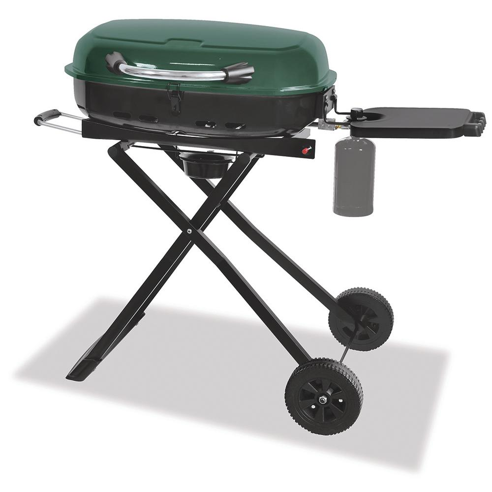 1-Burner Portable Propane Gas Grill in Green