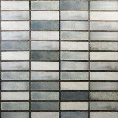 Piston Industrial Green 4 in. x 12 in. 7mm Matte Ceramic Subway Wall Tile (34-piece 10.97 sq. ft. / box)