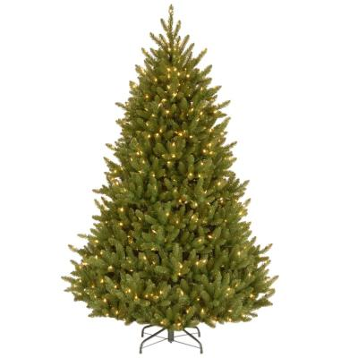 7-1/2 ft. Natural Fraser Medium Fir Hinged Artificial Christmas Tree with 750 Clear Lights
