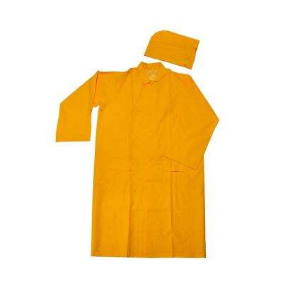 48 in. L Men's 35 mm X-Large Heavy Weight PVC Over Polyester Rain Suit