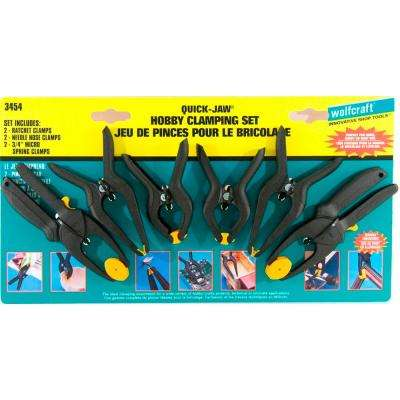 6-Piece Hobby Spring Needle-Nose and Ratchet Clamp Set