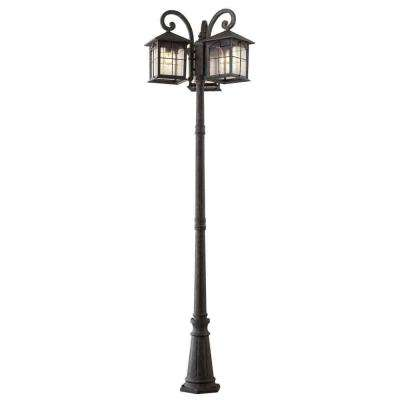 Post lighting outdoor lighting the home depot brimfield 3 head aged iron outdoor post light aloadofball Image collections